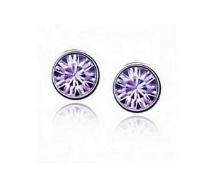 Серьги CZ Diamond (Фиолетовый), фото 2