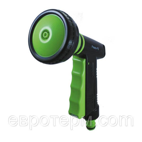 Пистолет распылитель для полива 4 режима  Presto-PS + вкл./выкл. воды
