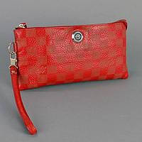 Клатч - кошелек женский натуральная кожа красный Louis Vuitton 1872
