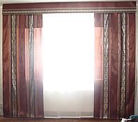 Комплект панельных шторок коричневые, 3м, фото 1