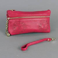 Клатч - кошелек женский натуральная кожа фуксия Louis Vuitton