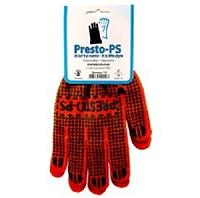 Перчатка трикотажная универсальная Presto-PS, № 110 оранжево/зеленая.