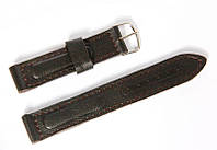 Ремінець шкіряний Nobrand для наручних годинників з класичною застібкою, коричневий, 18 мм