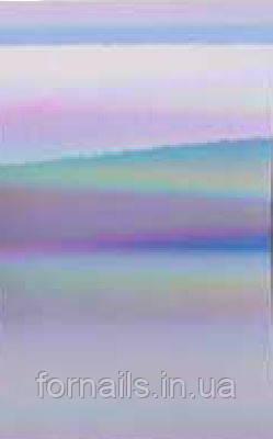 Переводная фольга №4 (серебряная голографическая) 1м
