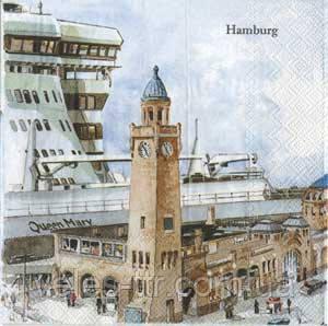"Салфетки для декупажа ""Гамбург"" HAMBURG 33*33 см №126"