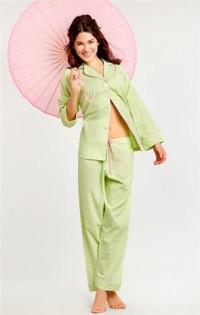 Женские пижамы, домашние костюмы с брюками (длинный рукав)