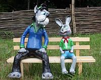 """Фигура для сада Волк с зайцем """"Ну погоди"""""""