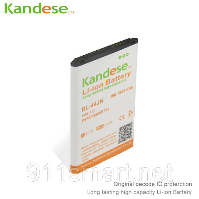 Усиленный аккумулятор LG BL-44JN  1800mah Kandese
