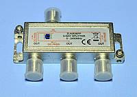 Сплитер TV 3-way HQ 5-2450MHz с прохождением питания Cabletech  ZLA0636PP