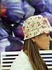 Льняная шляпа панама в цветочек unisex