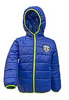 Курточка для мальчика демисезонная цвета электрик