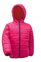 Курточка подростковая для девочки малинового цвета