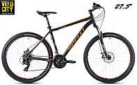"""Spelli SX-2500 27,5"""" 650B велосипед 2016 Черно-оранжевый матовый"""