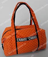"""Женская сумка """"CHANEL"""" оранжевая стеганая"""