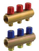 """Коллектор BIANCHI (2 выхода) для отопления и водоснабжения с вентилем HP 1""""2х3/4"""""""