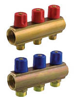 """Коллектор BIANCHI (3 выхода) для отопления и водоснабжения с вентилем HP 1""""2х3/4"""""""