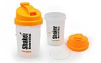 Шейкер для спортивного питания FI-5056 (TS1255) (пластик, 500мл, крышка-желтая, стакан-прозрачн.)