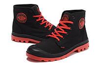 Ботинки мужские Palladium Pampa black-red