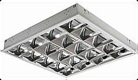 Растровый встраиваемый светильник 4х18 Lumen под led лампы
