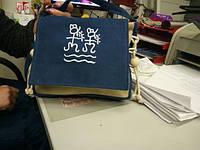 Небольшая женская сумка. Сумка из холста. Сумка на лето. Недорогая сумка. КС74