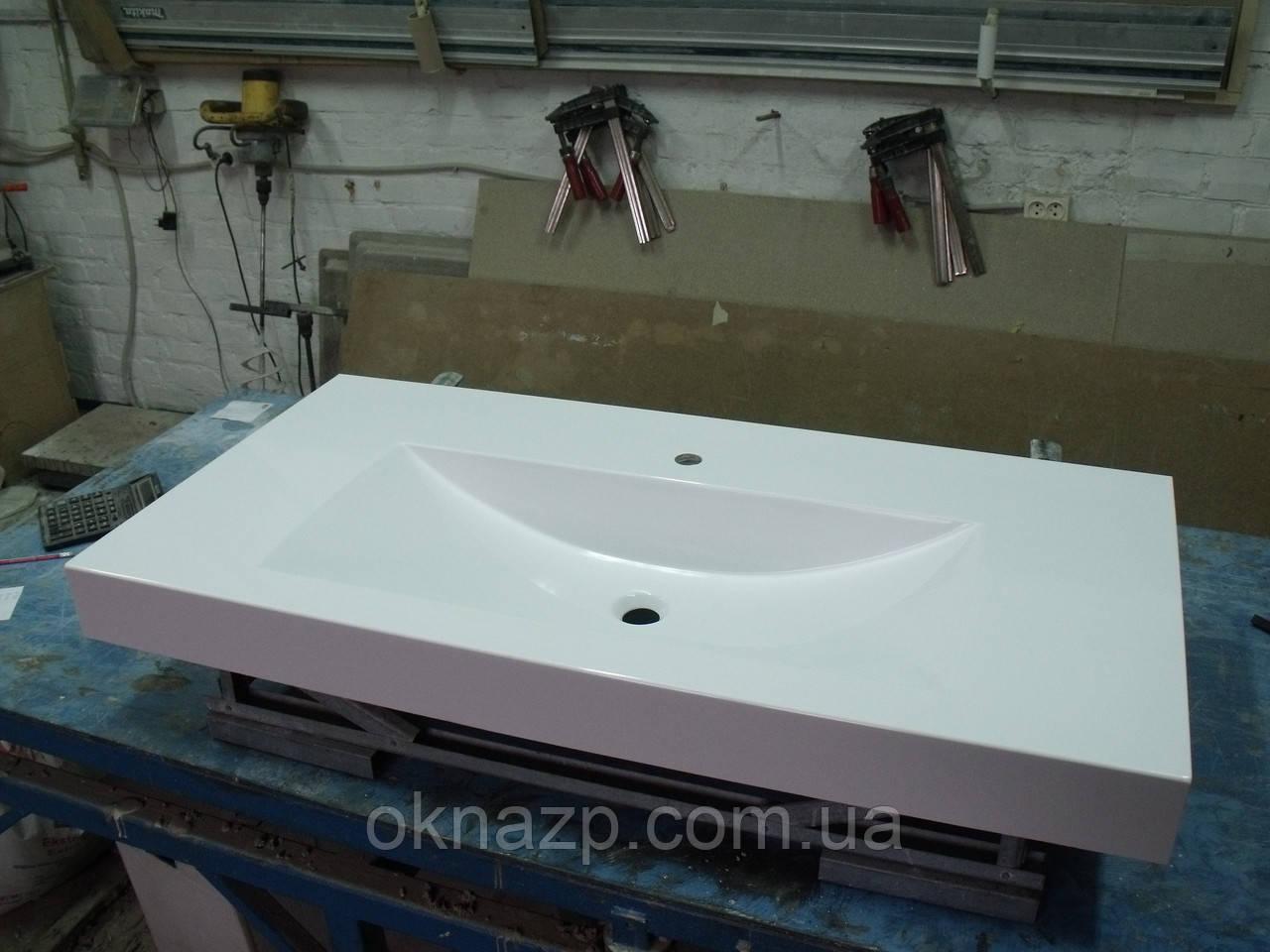 Умивальник з каменю білий зі стільницею (литий умивальник +2700грн./шт. додатково)