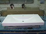 Умивальник з каменю білий зі стільницею (литий умивальник +2700грн./шт. додатково), фото 2