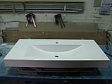 Умивальник з каменю білий зі стільницею (литий умивальник +2700грн./шт. додатково), фото 3