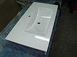 Умивальник з каменю білий зі стільницею (литий умивальник +2700грн./шт. додатково), фото 5