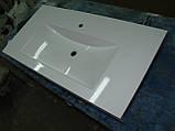 Умивальник з каменю білий зі стільницею (литий умивальник +2700грн./шт. додатково), фото 7