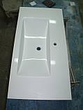 Умивальник з каменю білий зі стільницею (литий умивальник +2700грн./шт. додатково), фото 6