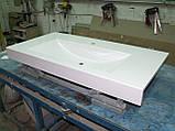 Умивальник з каменю білий зі стільницею (литий умивальник +2700грн./шт. додатково), фото 9
