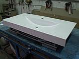 Умивальник з каменю білий зі стільницею (литий умивальник +2700грн./шт. додатково), фото 10
