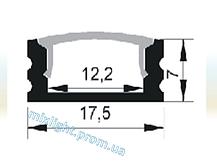 Профиль накладной для Led ленты 1 метр, фото 2