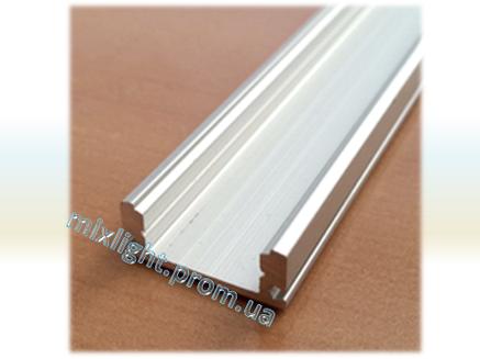 Профиль накладной для светодиодной ленты 2 метра анодированный, фото 2