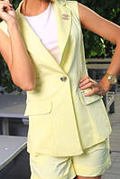 Костюм женский Летний с шортиками цвет жёлтый