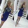 Облегающее платье с вставкой клетки, фото 2