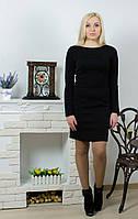 Платье стеганное прямое черное, фото 1