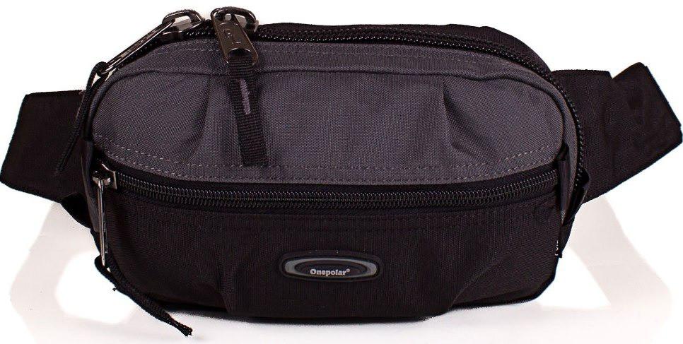 Мужская качественная поясная сумка Onepolar W3001-grey — только качественная продукция от SuperSumka