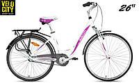 """Велосипед Avanti Fiero 26"""" бело-розовый, фото 1"""