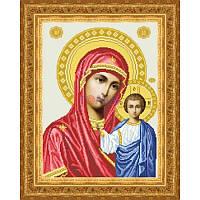 ТО-047 Венчальная икона Казанская Божья Матерь 32х43. Барвиста вишиванка. Схема на ткани для вышиван