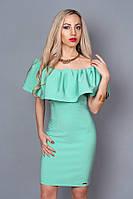 Эффектное платье мятного цвета 383 р 42-48, фото 1