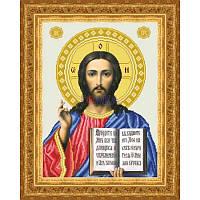 ТО-048 Венчальная икона Господь Вседержитель 32х43. Барвиста вишиванка. Схема на ткани для вышивания