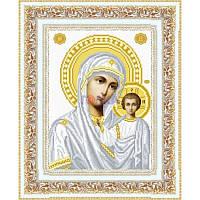 ТО-049 Венчальная икона Казанская Божья Матерь 23х32. Барвиста вишиванка. Схема на ткани для вышива