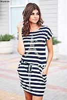 Трикотажное летнее платье больших размеров 2 цвета