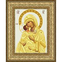 ТО-055 Венчальная икона Владимирская Божья Матерь 23х32. Барвиста вишиванка. Схема на ткани для вышиван