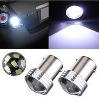 Автомобильная LED лампочка 1156 P21W 6 с линзой