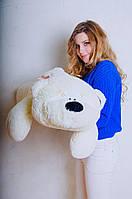 Лежачий мишка Физзи Мун 95 см.Мягкая ирушка.Плюшевый мишка.Мягкая игрушка украина.игрушка медведь шампань с коричневой пуговкой