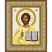 ТО-058 Венчальная икона Господь Вседержитель 16х22. Барвиста вишиванка. Схема на ткани для вышивания