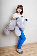 Лежачий мишка Физзи Мун 95 см.Мягкая ирушка.Плюшевый мишка.Мягкая игрушка украина.игрушка медведь серый с белой пуговкой