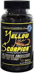 Жиросжигатель с геранью желтый скорпион Yellow Scorpion ECA+DMAA 90 ct